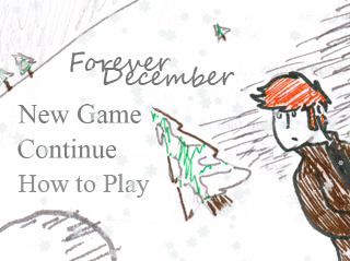 A screenshot of the title screen for Forever December.